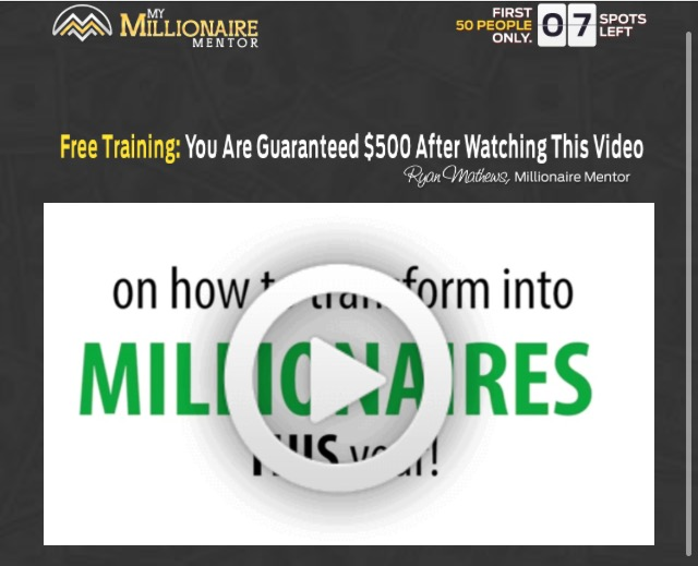 My Millionaire Mentor video