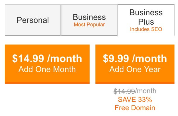 GoDaddy Price