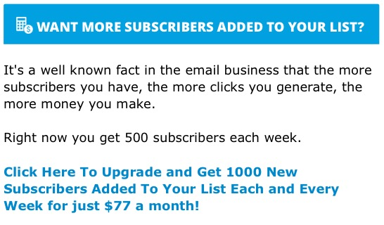 the email syndicate upsell
