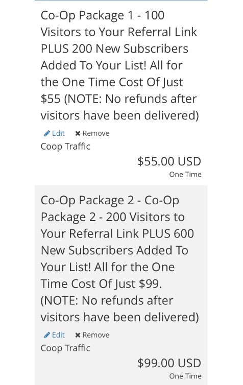 the email syndicate co-op packages